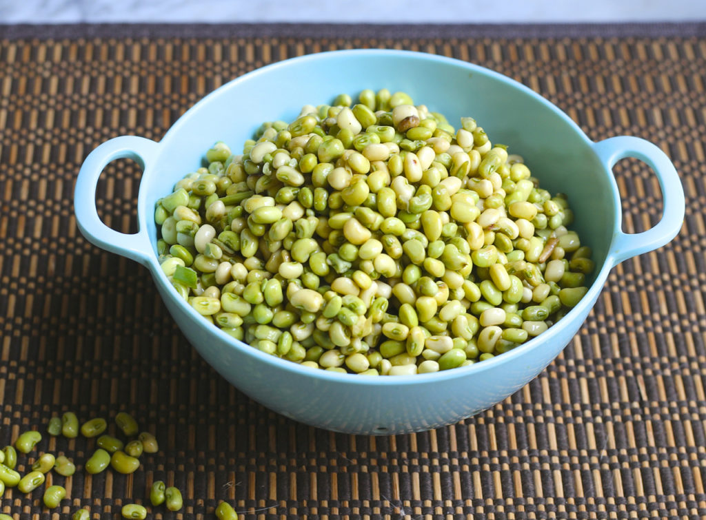 field pea salad with spicy mustard vinaigrette