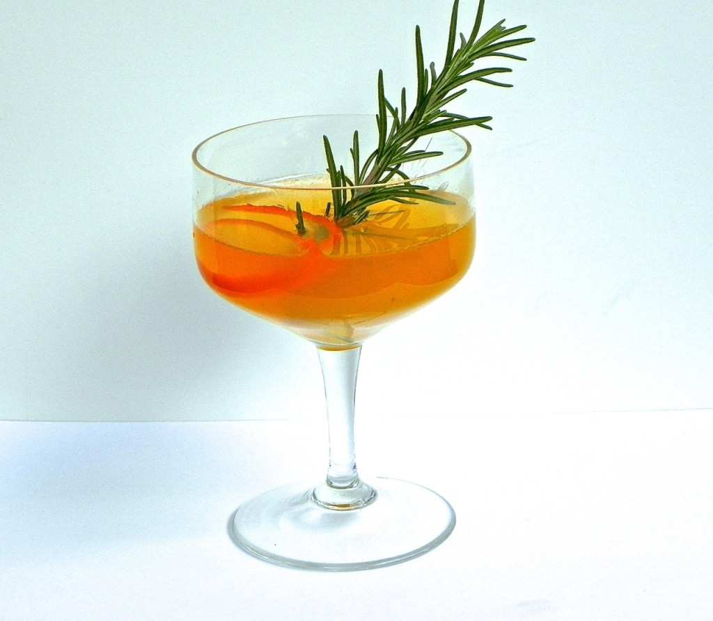tangerine rosemary cocktail