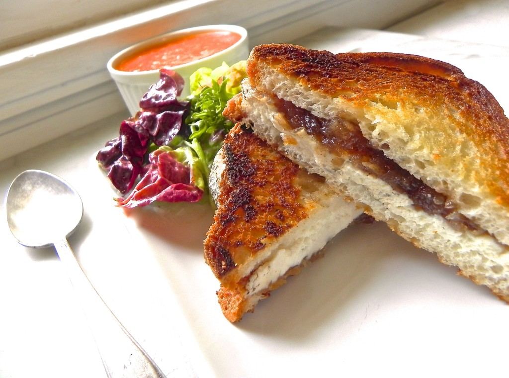 grilled goat cheese sandwiches with spicy apple chutney ...