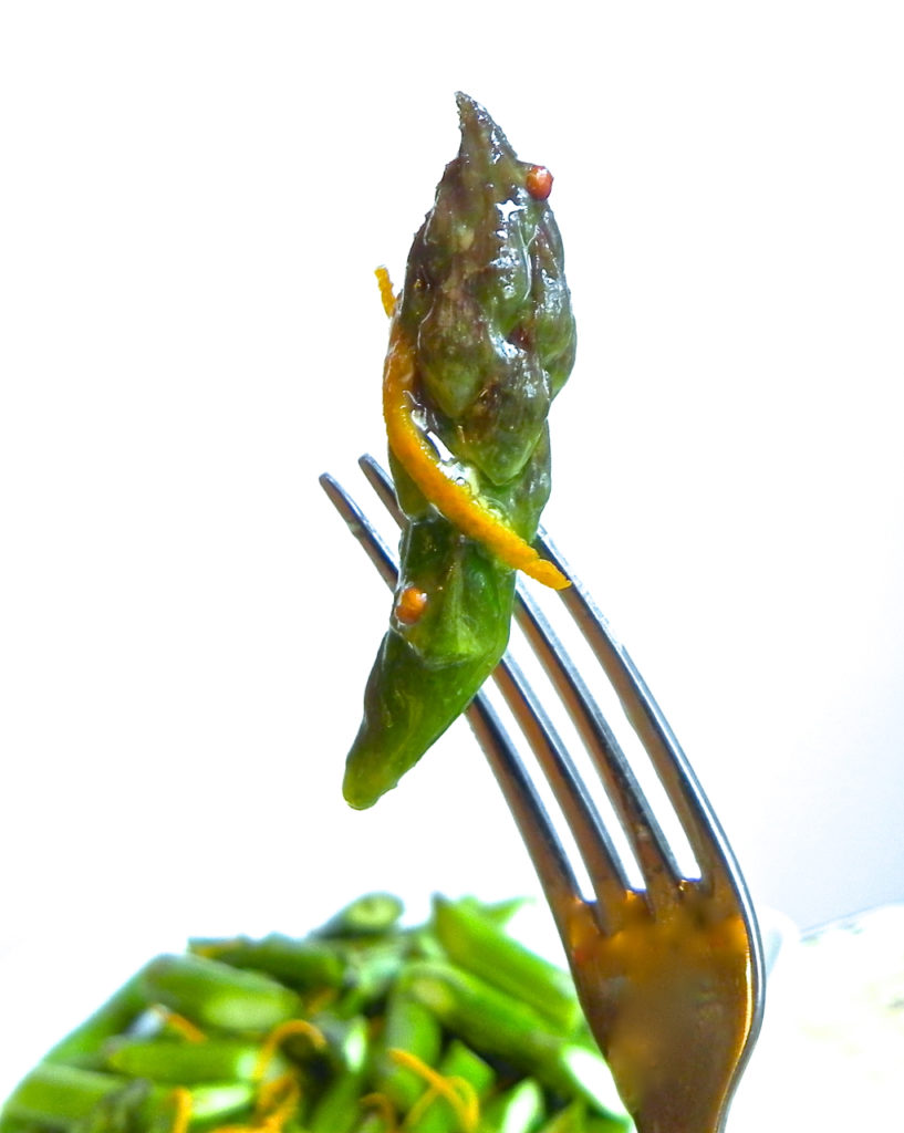 asparagus with orange honey vinaigrette
