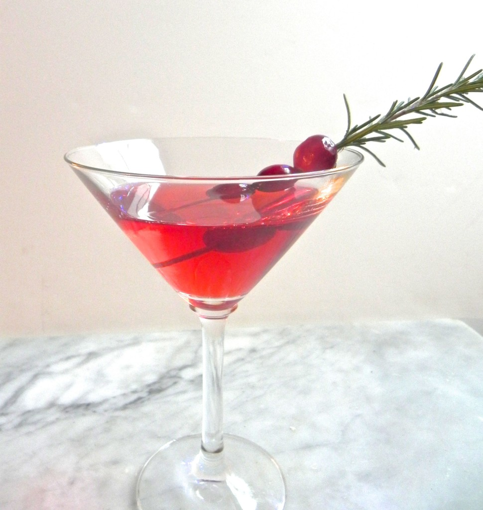 spiced cranberry vodka cocktail