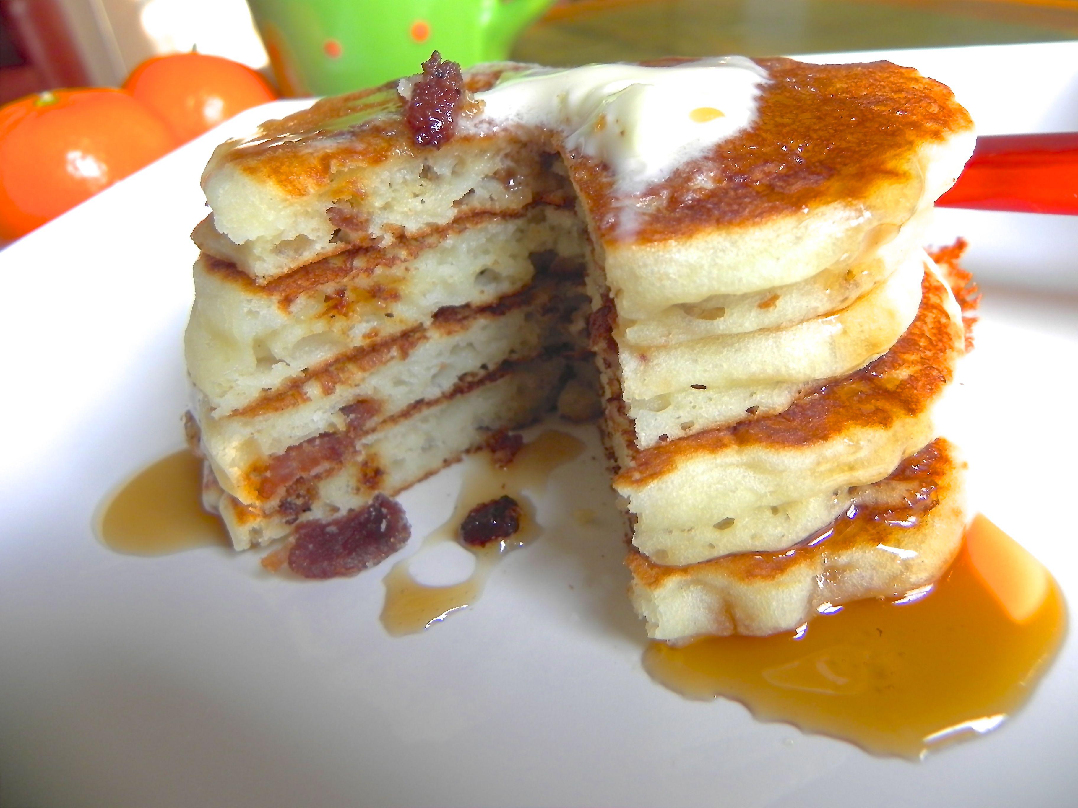 Bacon Buttermilk Pancakes | The Good Eats Company