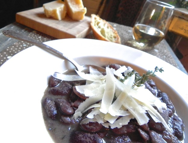 heirloom bean soup with parmesan and thyme