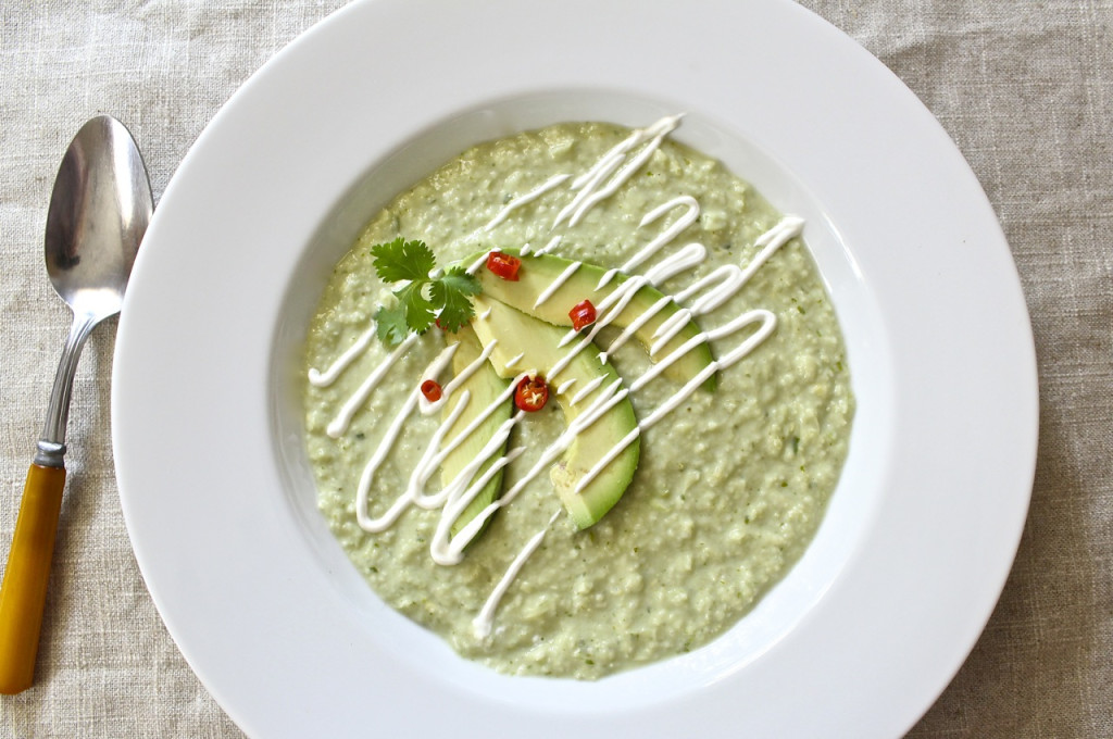 coconut corn avocado soup