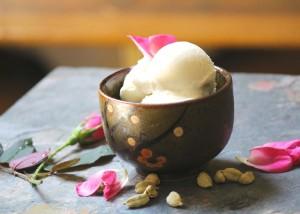 cardamom rosewater frozen yogurt