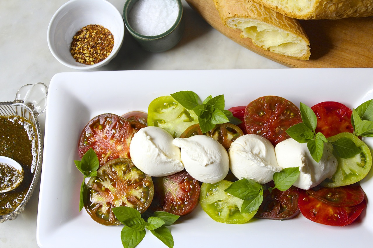 Burrata Caprese Salad recipe | The Good Eats Company