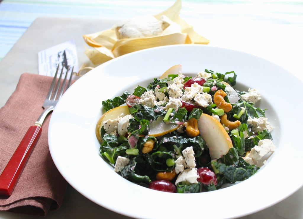 tuscan kale and goat cheese salad