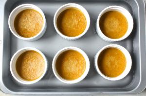 water bath for sweet potato custard