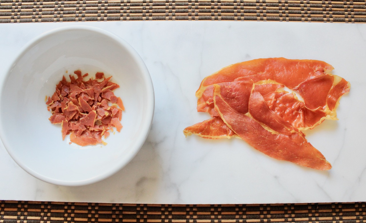 frizzled prosciutto for appetizer