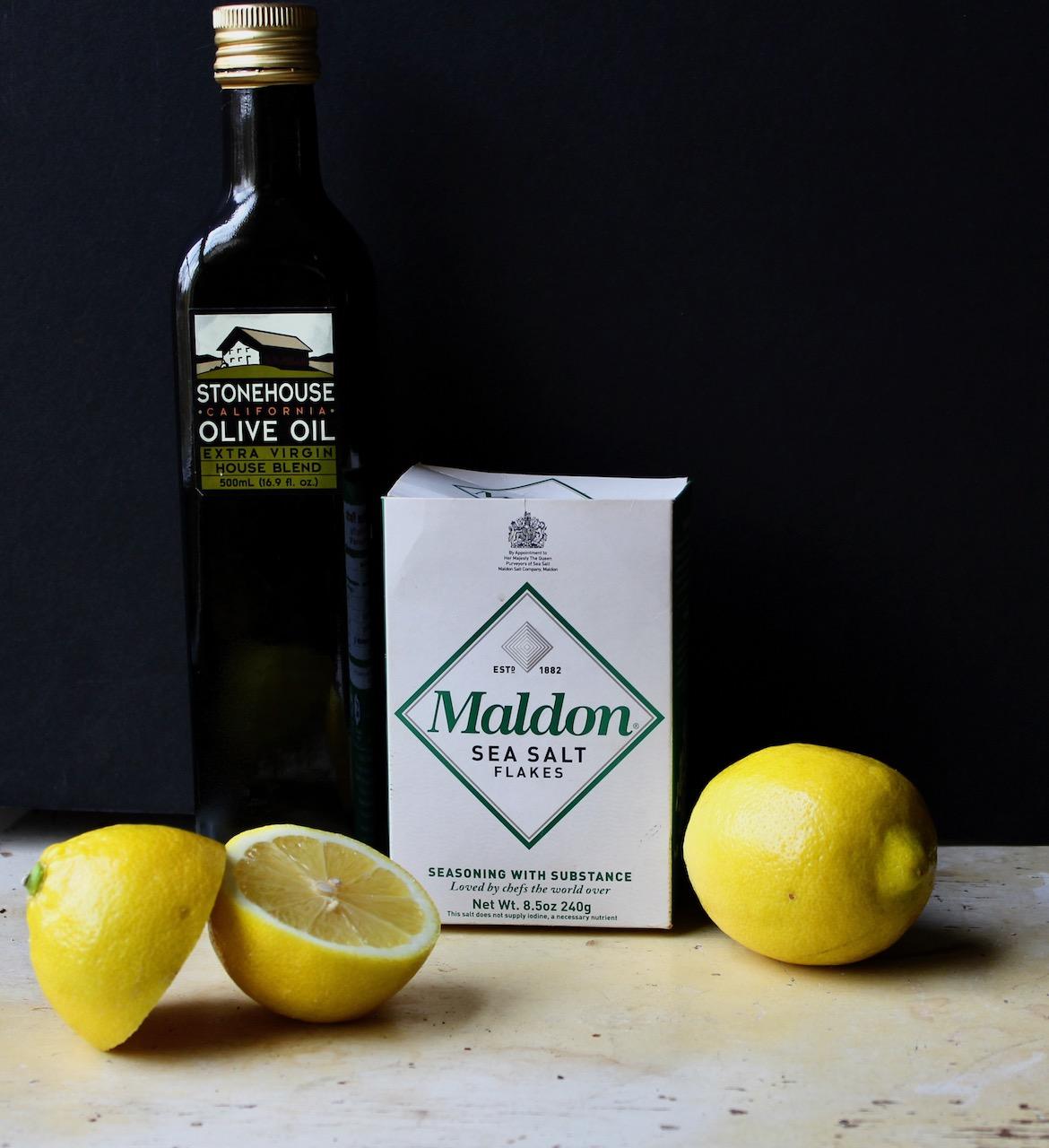 ingredients for lemon olive oil tart