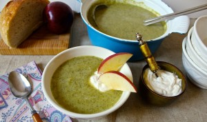broccoli apple ale soup