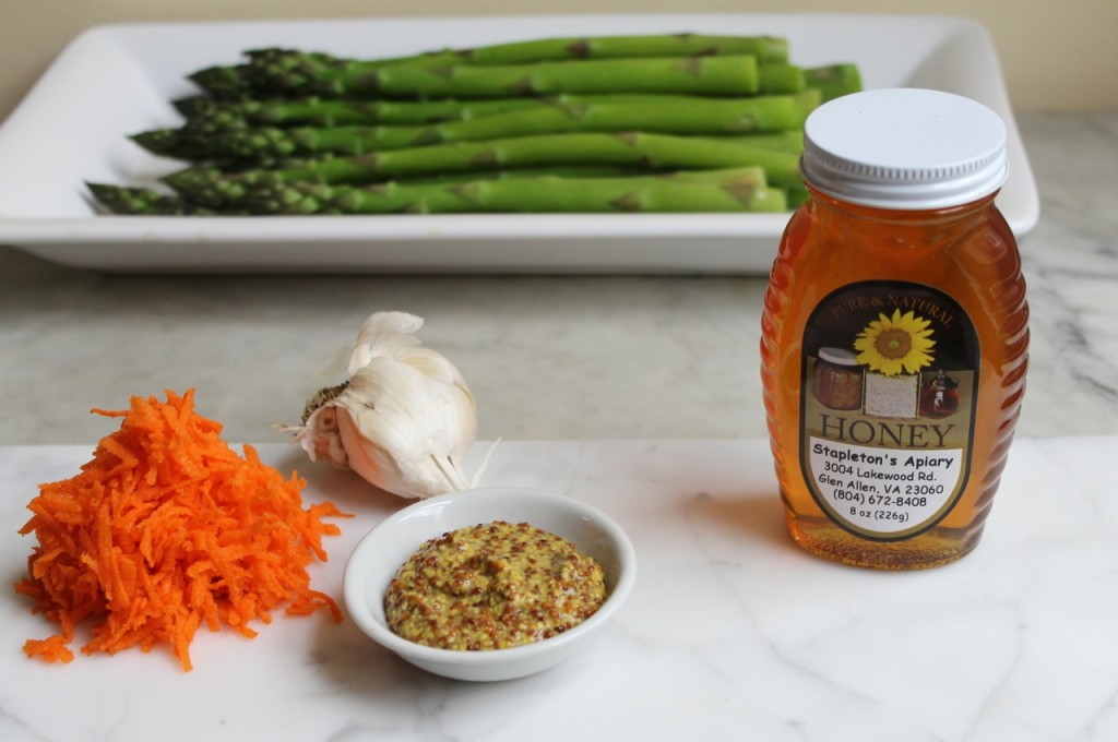 asparagus with carrot honey vinaigrette
