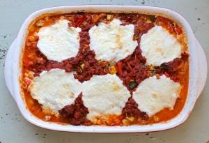 shirataki sausage lasagna
