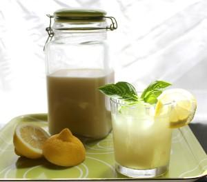 coconut basil lemonade