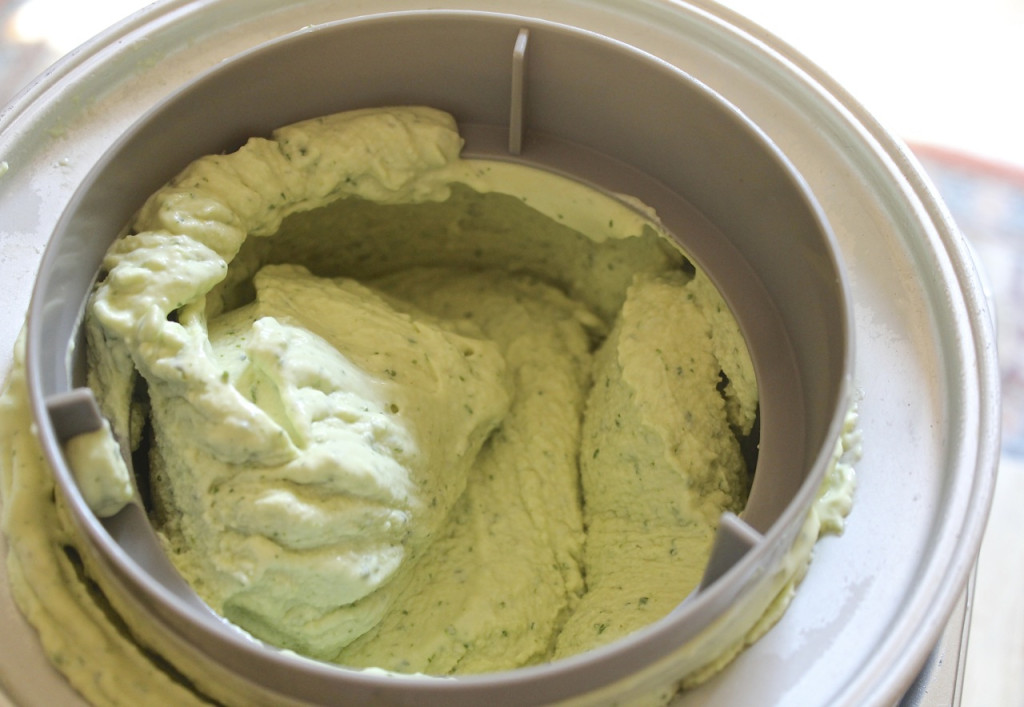 avocado lime cilantro ice cream
