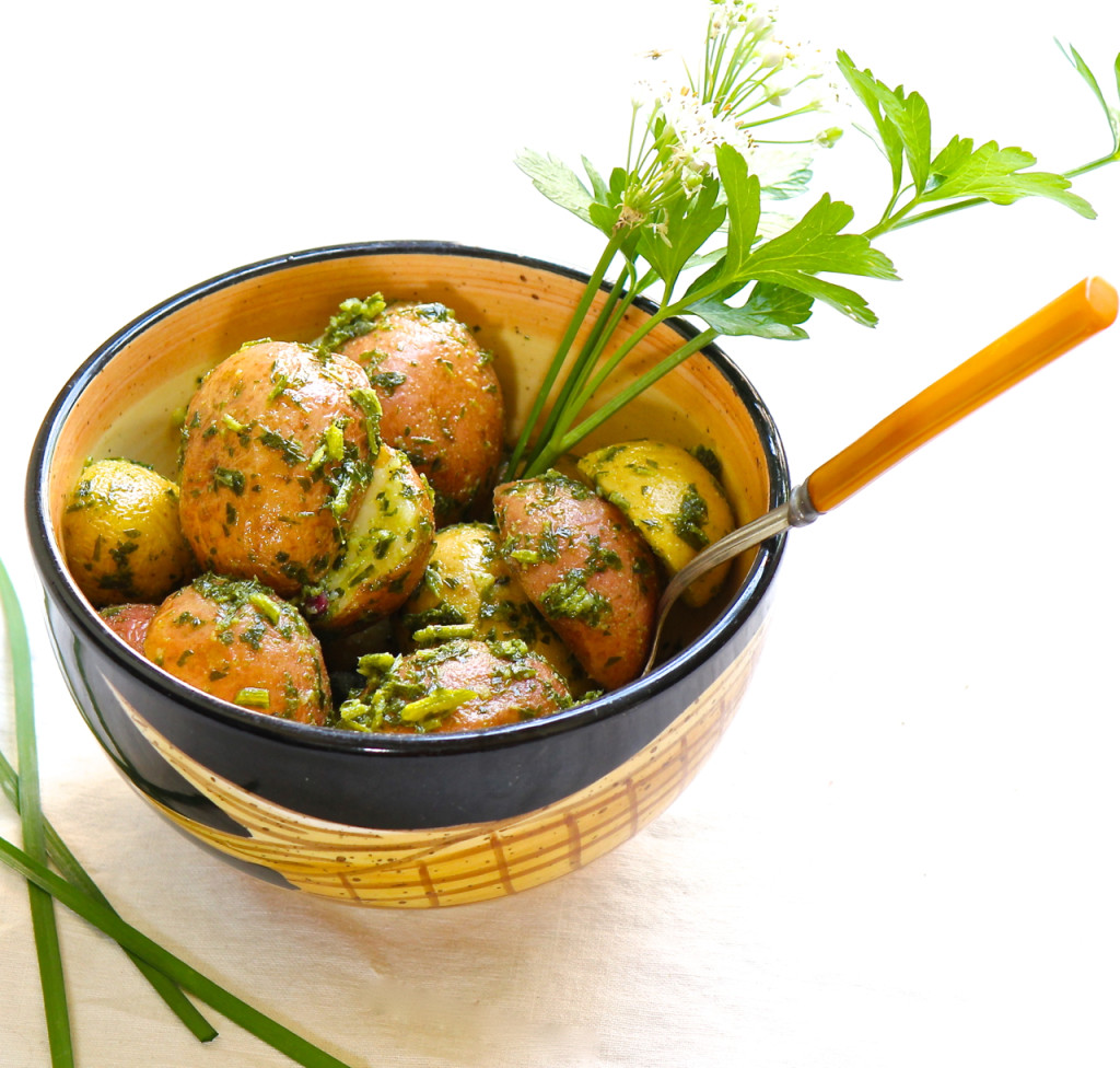 parsley chive potato salad