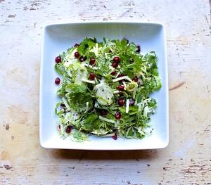 ginger sesame brussels sprout salad