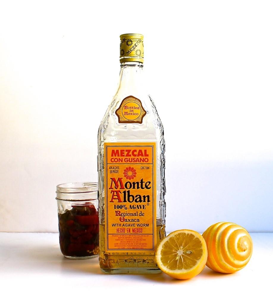 meyer lemon mezcal cocktail