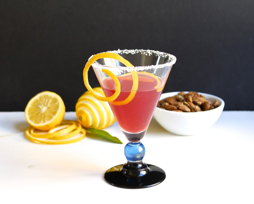 meyer lemon mezcal cocktail