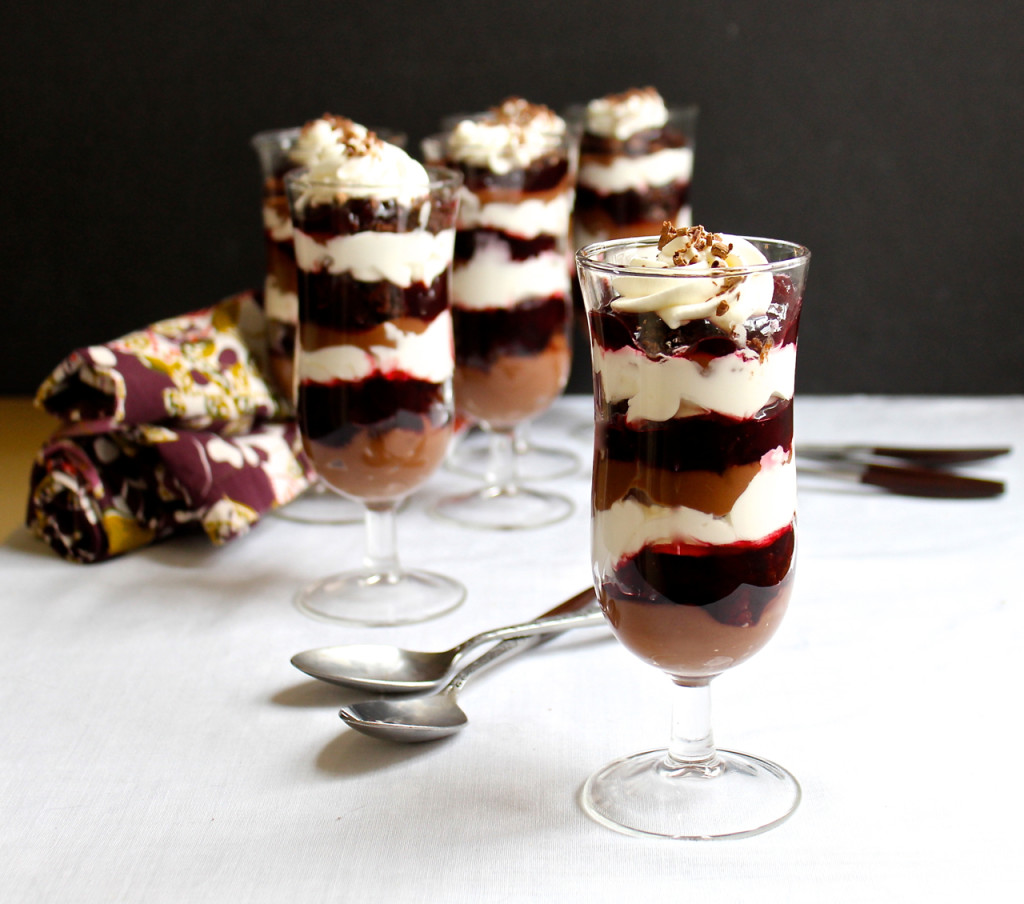 chocolate cherry parfaits