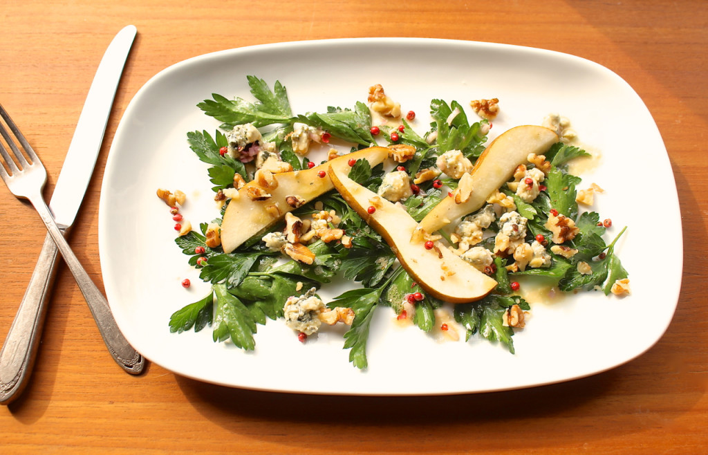 parsley pear salad