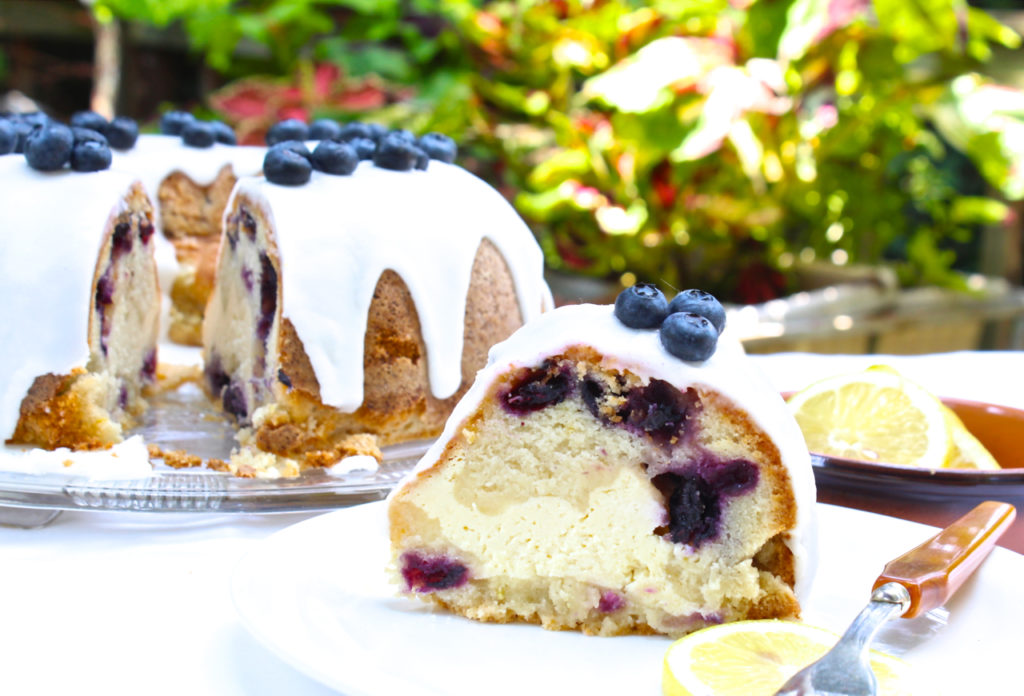 blueberry lemon cream cheese cake