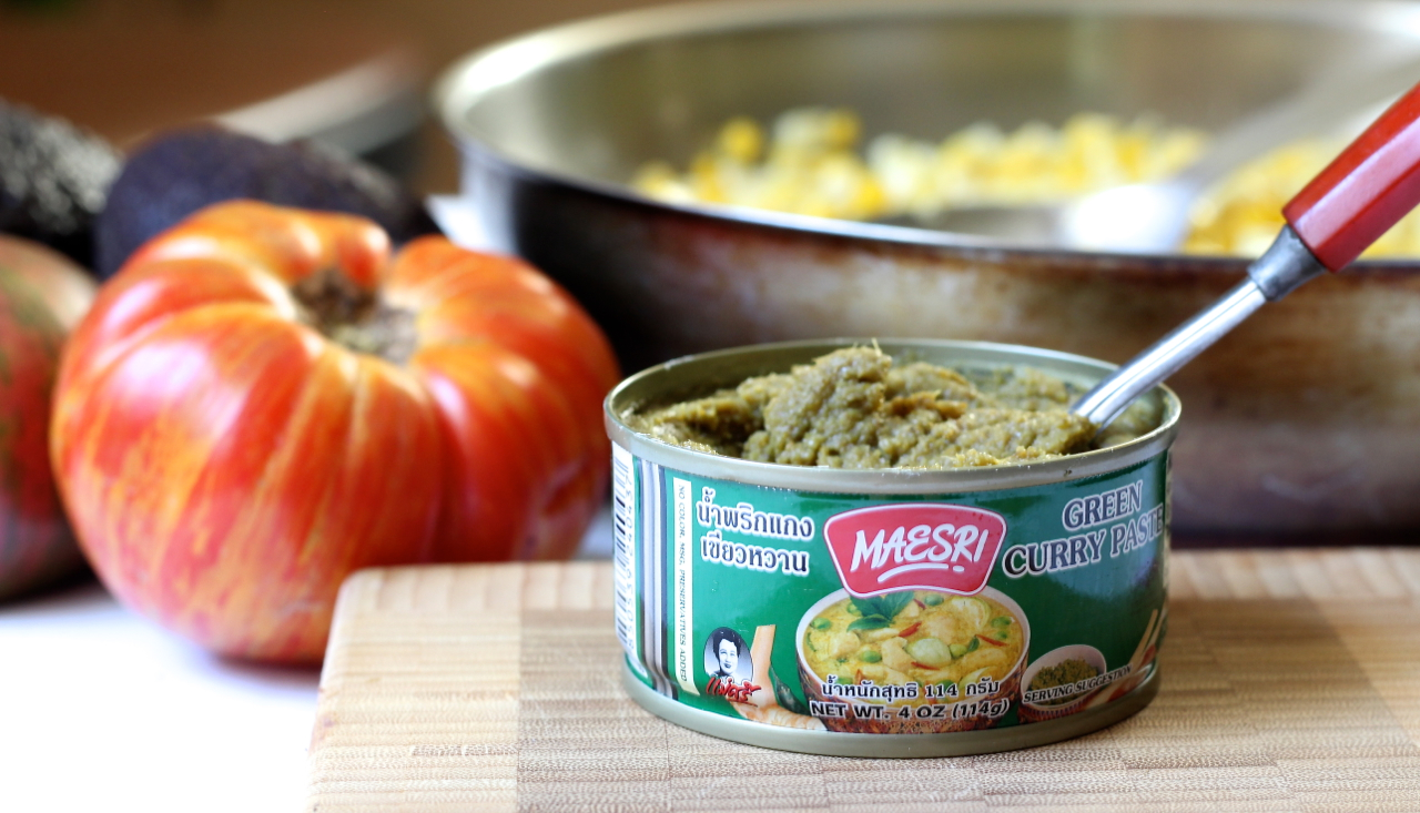 green curry corn tomato salad