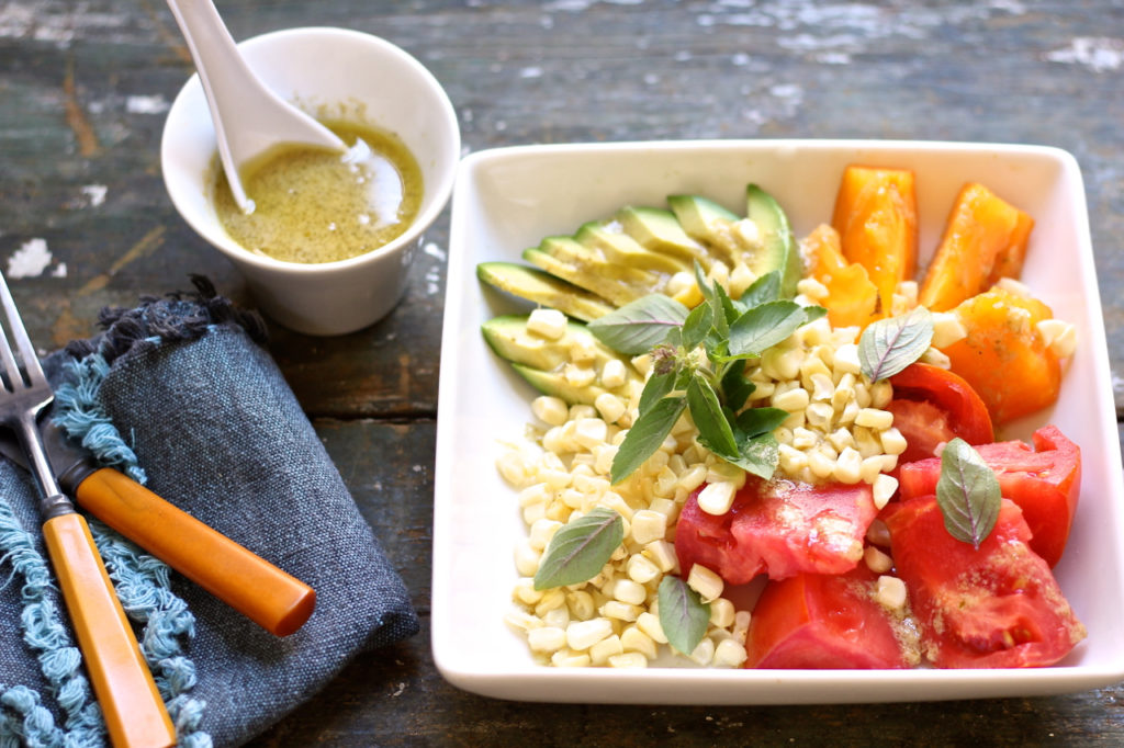 green curry corn tomato salad