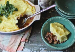 lamb eggplant shepherd's pie