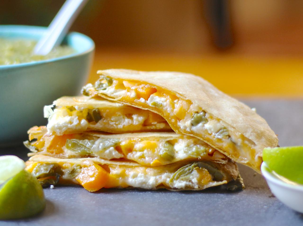 goat cheese quesadillas