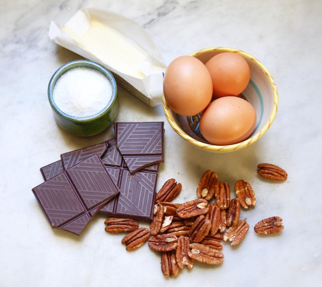 salted chocolate pecan tart