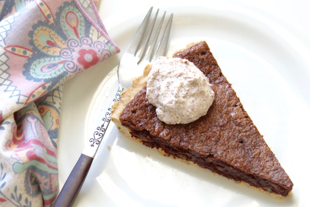 salted chocolate pecan tart