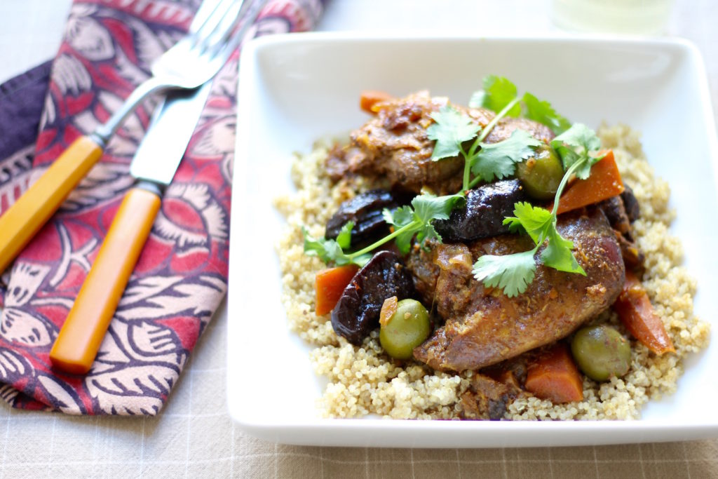 moroccan chicken with prunes