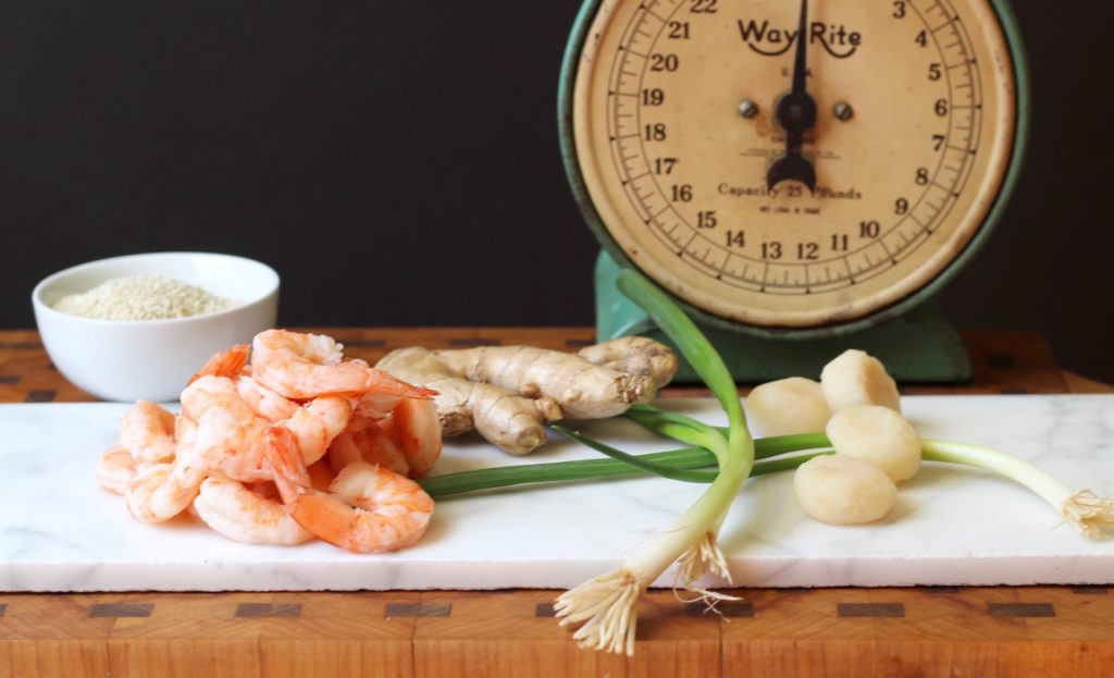 sesame shrimp toasts