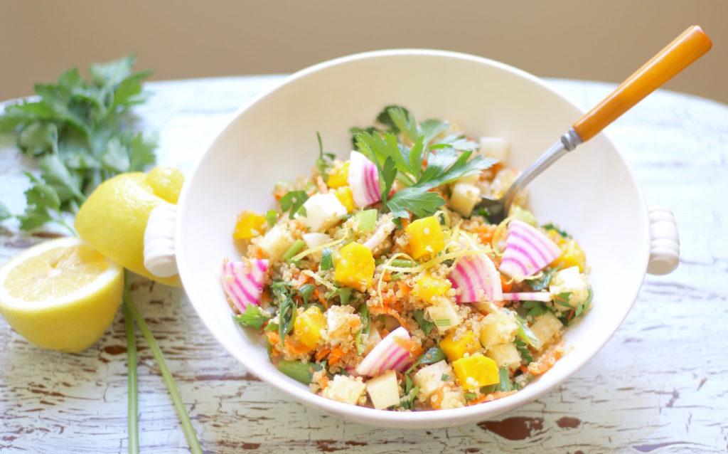 crunchy quinoa vegetable salad