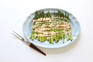asparagus with smoky yogurt
