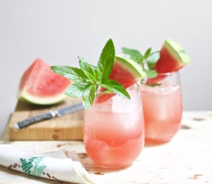 moonshine melon mint cocktail