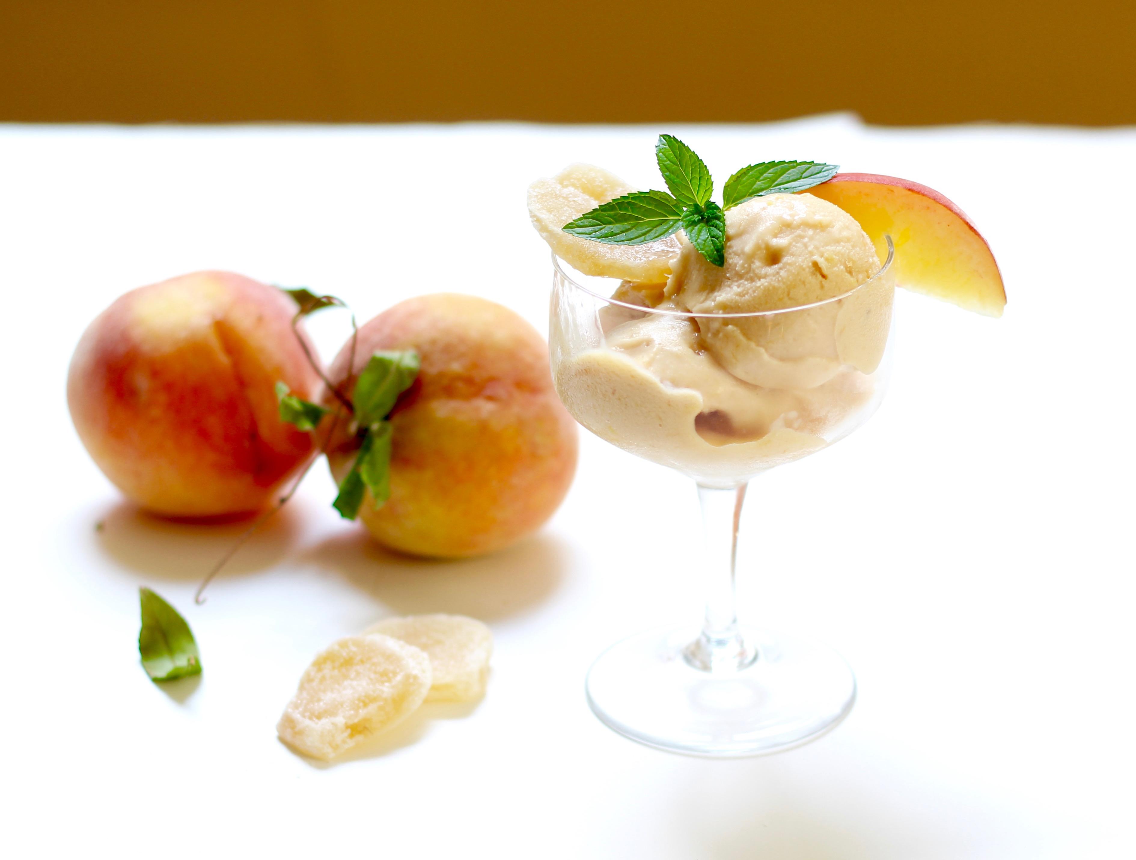 ginger peach sherbet