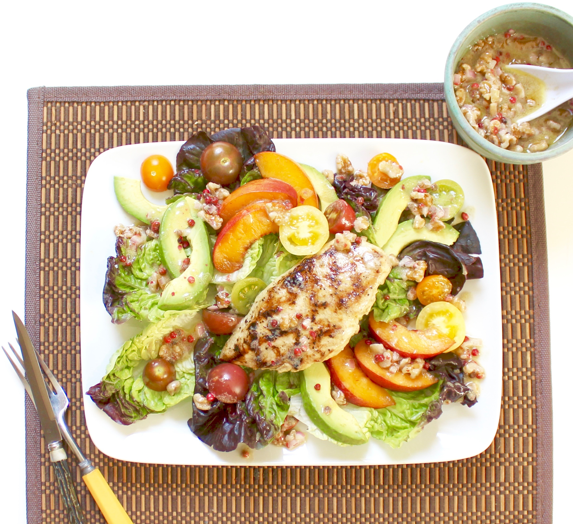 grilled chicken and nectarine salad