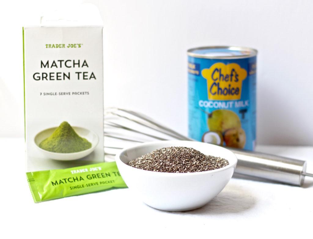 green tea chia parfaits