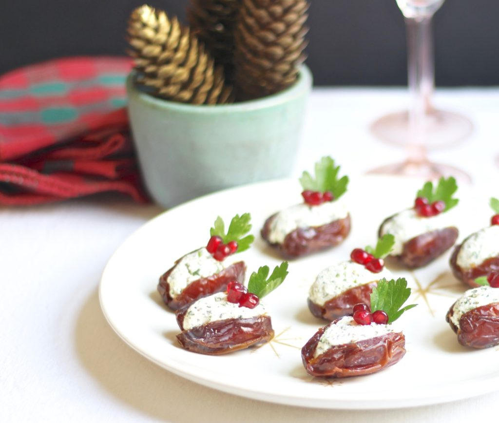 herbed goat cheese stuffed dates