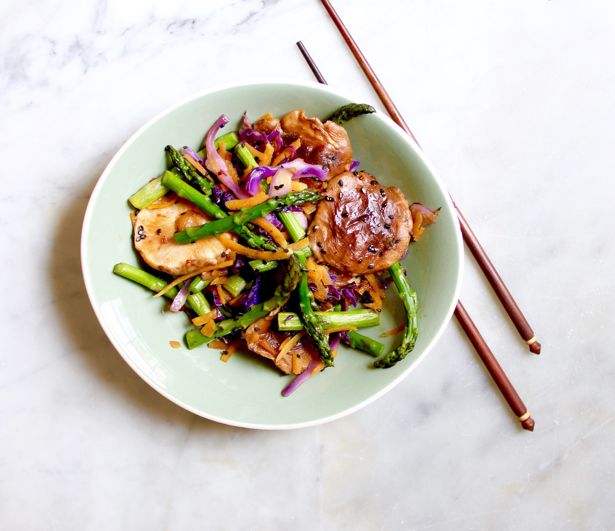 asparagus shiitake stir fry