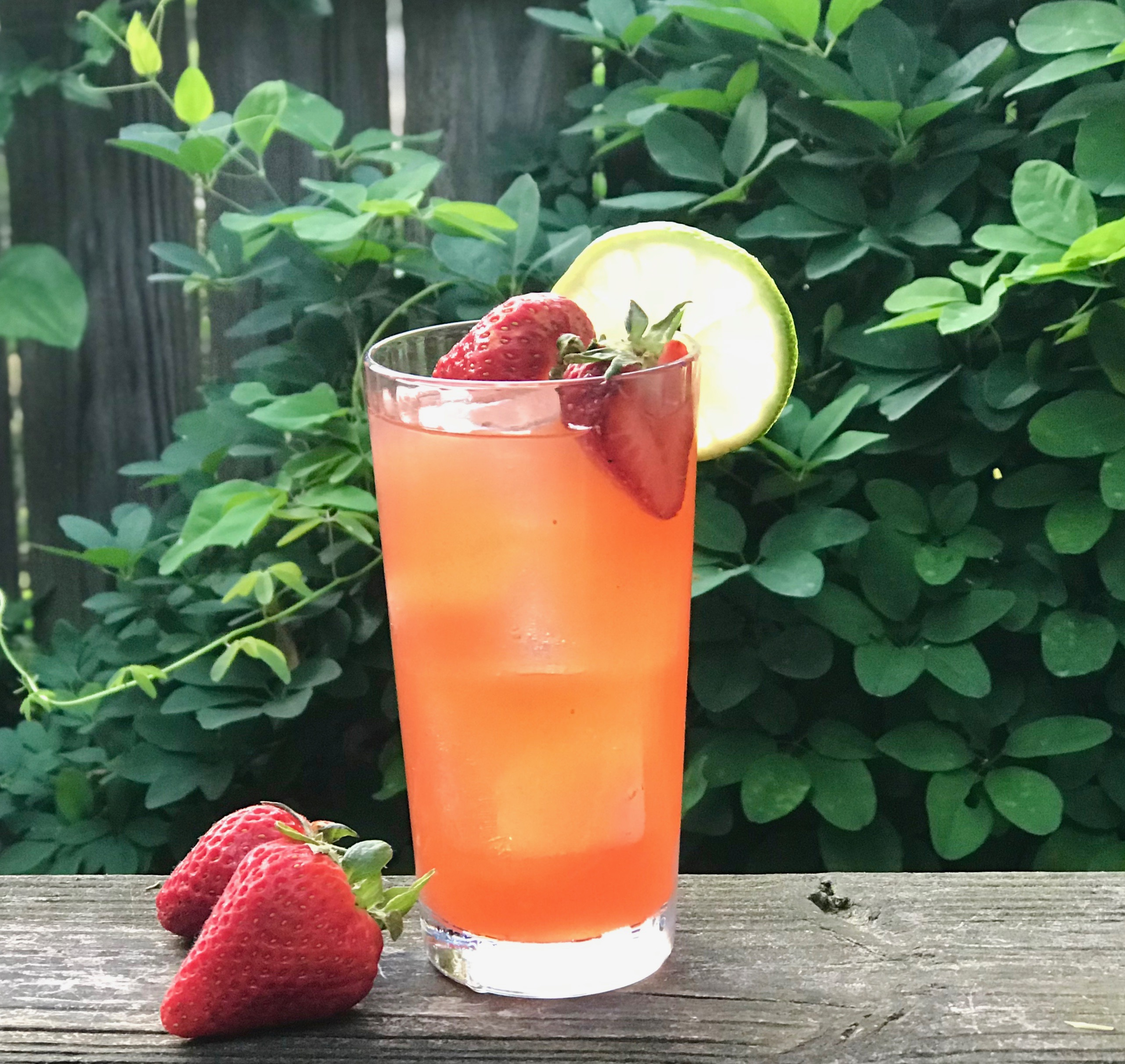 strawberry tarragon lime cocktail