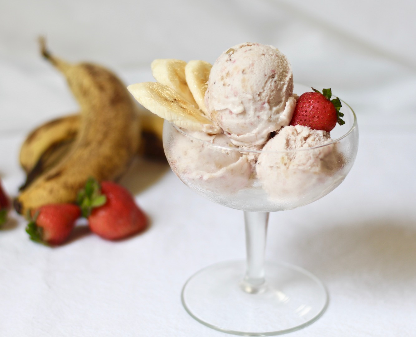 strawberry banana walnut ice cream
