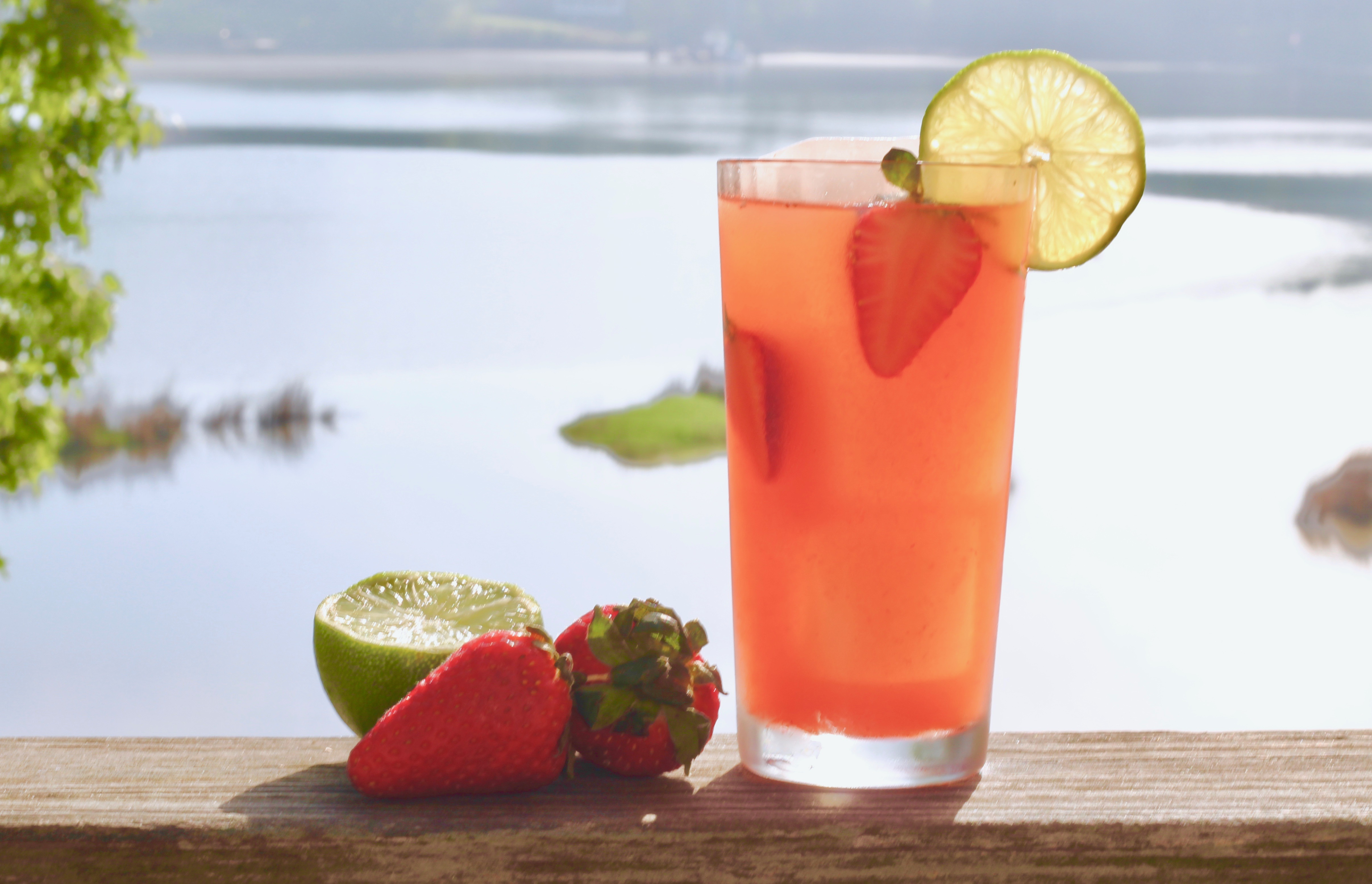strawberry tarragon lime cocktail