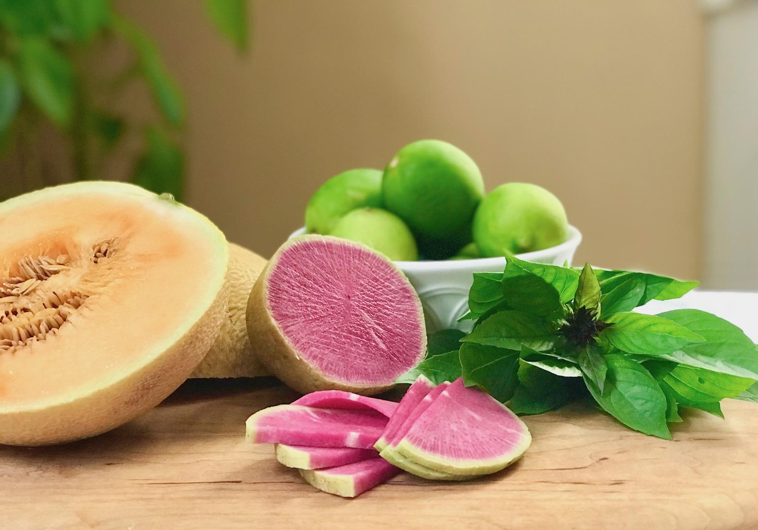 thai melon and radish salad