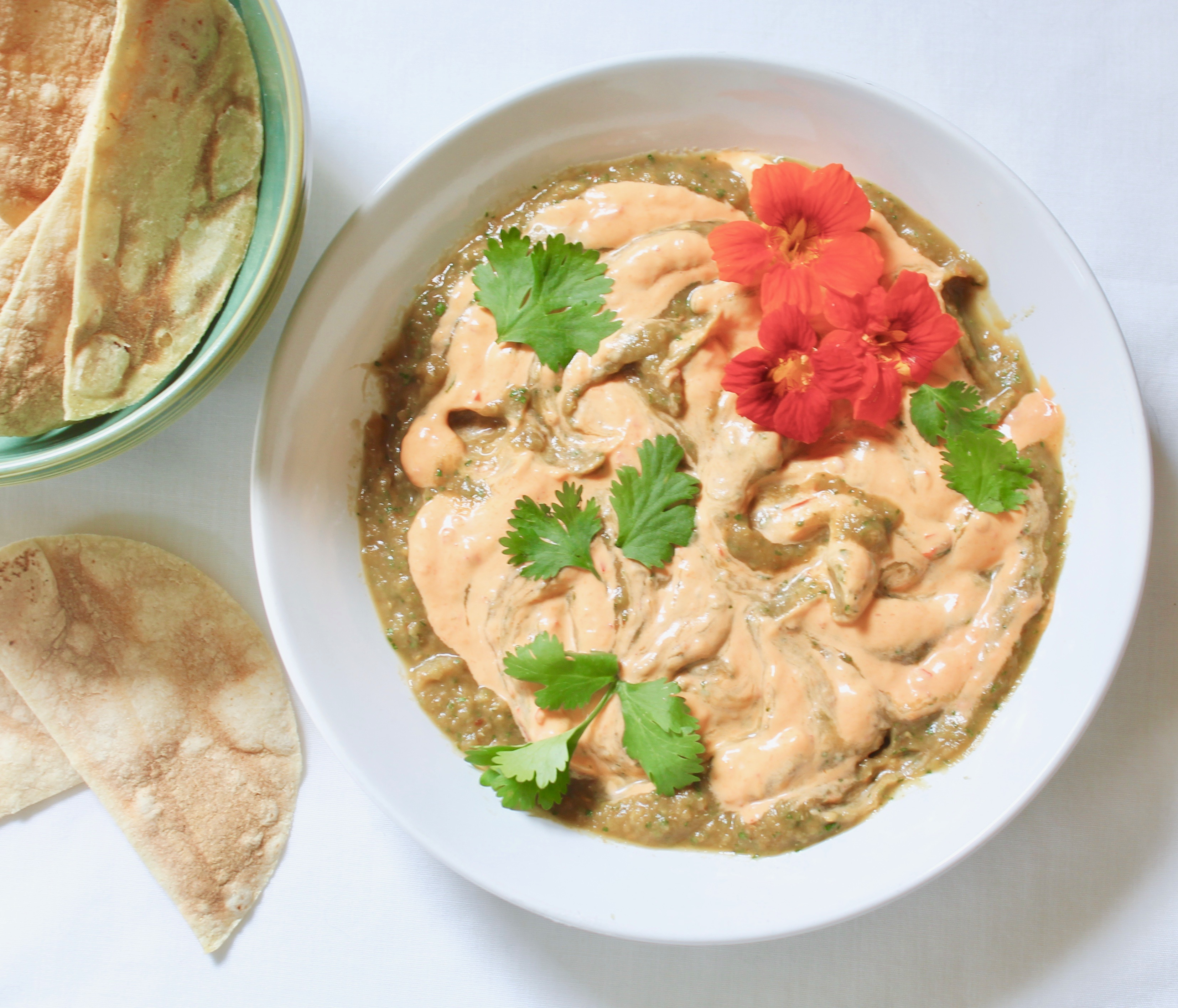 eggplant dip with harissa aioli