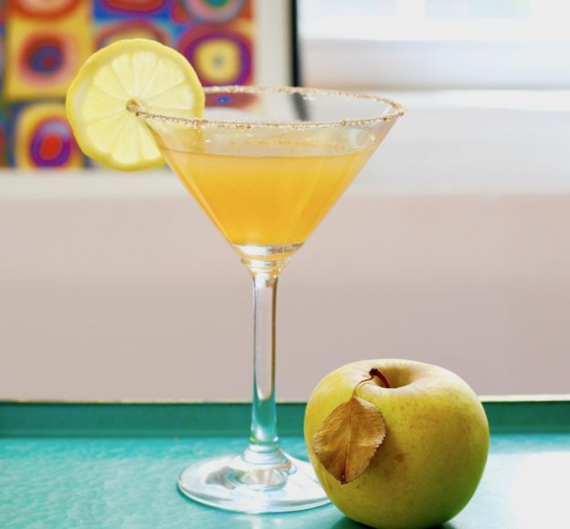smoky tequila cider cocktail
