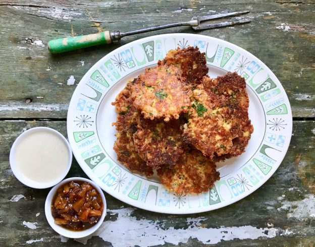 black eyed pea and cheddar fritters