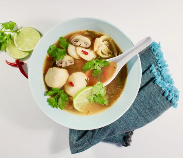 hot and sour scallop soup